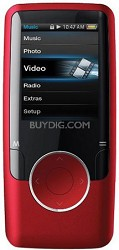 "Red MP3 Video Player with 1.8"" Display, 4 GB Flash Memory & FM"