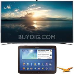 """UN55F9000 - 55"""" 4K Ultra HD 120Hz 3D Smart LED TV 10.1-Inch Galaxy Tab 3 Bundle"""