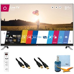 70-Inch 120Hz 1080p 3D Direct LED Smart HDTV Plus Hook-Up Bundle (70LB7100)