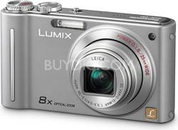 DMC-ZR1S LUMIX 12.1 MP 8x Zoom Digital Camera (Silver)