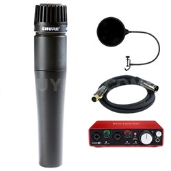 SM57-LC Cardioid Dynamic Instrument Microphone w/ Interface Bundle