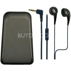 Ultra Soft/Comfortable Earbuds with inline volume control (Black)