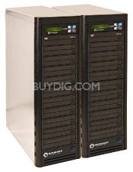 CopyWriter DVD NET-20 Premium two 10-drive towers - Daisy Chainable Series