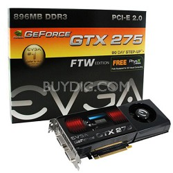 GeForce GTX 275 FTW PCIE 2.0 896MB 2PORT DVI HD