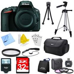 D5500 Black Digital SLR Camera Body Deluxe Bundle