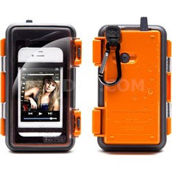 Eco Pod Rugged/Waterproof Case for MP3 players/Smartphones - Orange - OPEN BOX