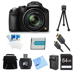 LUMIX DMC-FZ70 16.1 MP Digital Camera 64GB Bundle