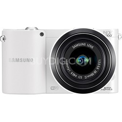 NX1000 20.3 MP Compact System Camera (White) With 20-50 Lens