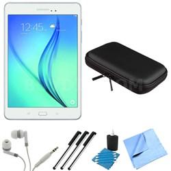 Galaxy Tab A SM-T350NZWAXAR 8-Inch Tablet (16 GB, White) Bundle