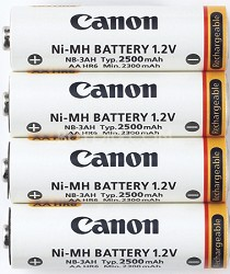 NB4-300 set of 4 AA batteries f/ Powershot SX, S and A-Series Cameras