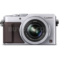 LUMIX LX100 Integrated Leica DC Lens Silver Camera - OPEN BOX