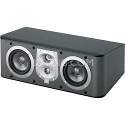 "ES25CBK 3-Way, Dual 5 1/4"" Center Channel Speaker - Black Ash"