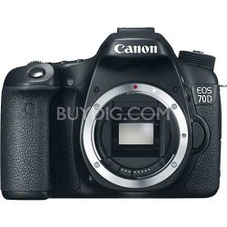 """EOS 70D 20.2 MP CMOS (APS-C) Digital SLR Camera with 3"""" LCD (Body Only)"""