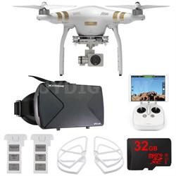 Phantom 3 Pro Quadcopter Drone w/ 4K Camera FPV Virtual Reality Experience
