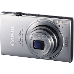 PowerShot ELPH 320 HS 16MP Silver Digital Camera 5x  Zoom 3 inch Touch LCD