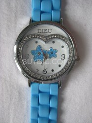 Women's 749002 Analog Round Glitz Sky Blue Watch