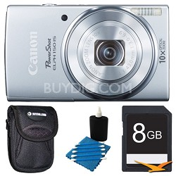 PowerShot ELPH 150 IS 20MP 10x Opt Zoom Digital Camera Silver Kit
