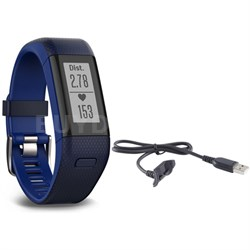 Vivosmart HR+ Activity Tracker Bundle, Regular Fit with Charging Cable (Blue)