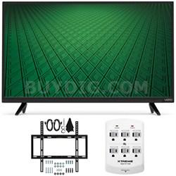 "D-Series D32hn-D0 32"" Class Full-Array LED HD TV Slim Flat Wall Mount Bundle"