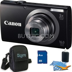 PowerShot A2300 16MP Black Digital Camera 4GB Kit