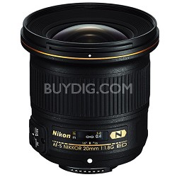 AF-S FX Full Frame NIKKOR 20mm f/1.8G ED Fixed Lens with Auto Focus