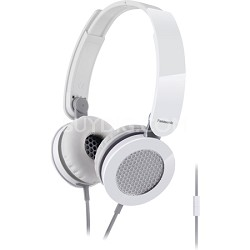 Sound Rush On-Ear Headphones, White/Gray (RP-HXS200M-W)