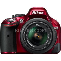 D5200 DX-Format Red Digital SLR Kit w 18-55mm VR Lens