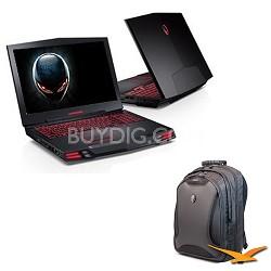 Alienware M17x R3 Laptop PC WiDi Intel Core i7  Stealth Black With MEAWBP2 Case