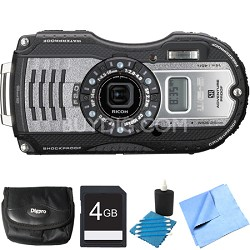 WG-5 GPS 16MP Digital Camera Gunmetal Gray 4GB Bundle