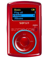 Clip MP3 Player 2GB - Red