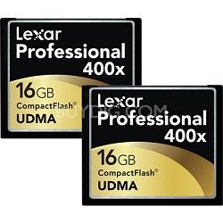 LCF16GCTBNA4002 - Compact Flash 2-pk 16gb 400x
