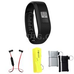 Vivofit 3 Activity Tracker Fitness Band X-Large Fit - Black w/ Power Bank Bundle