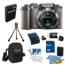 16 GB Kit SZ-31MR iHS 16MP 24X Opt Zoom 3 in LCD Camera - Silver
