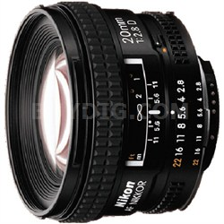20mm F/2.8D AF Nikkor Lens, Factory Refurbished