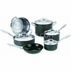 GG-10 - GreenGourmet Hard Anodized Eco-Friendly Nonstick 10-Piece Cookware Set