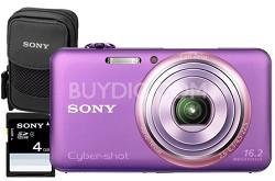 "DSC-WX70/V - 16.2MP Exmor R CMOS Full HD Digital Camera 3"" LCD 5x Zoom (Violet)"