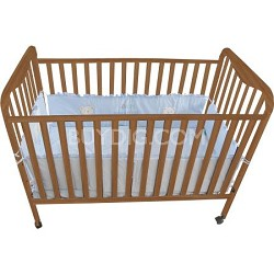 Full Size 3 Level Solid Wood Baby Crib - Natural