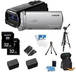 HDR-TD20V HD 3D 64GB Camcorder with Geotagging Bundle