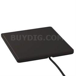 Multi-Directional Amplified Digital HDTV Flat Antenna (Black) - ANT1450BF