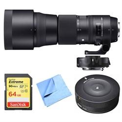 150-600mm F5-6.3 Contemporary Nikon Lens, Teleconverter, and Dock Bundle
