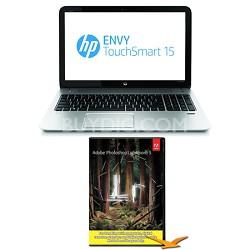 """Envy TouchSmart 15.6"""" 15-j170us Notebook - Quad-Core Photoshop Lightroom Bundle"""