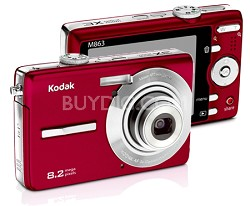 EasyShare M863 8.2 MP Digital Camera (Red)