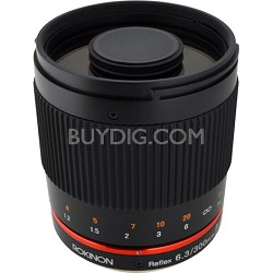 300mm F6.3 Mirror Lens for Canon M (Black)