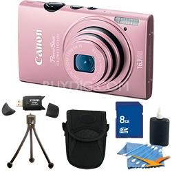 PowerShot ELPH 110 HS 16.1MP Pink Digital Camera 5x Zoom HD Video 8 GB Bundle