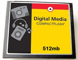 512MB Compact Flash Memory Card ( A Necessity)