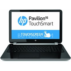 "Pavilion TouchSmart 15.6"" 15-n020us Notebook - AMD Quad-Core A6-5200 Acc. Proc."