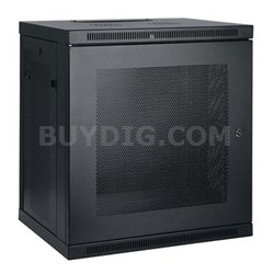 12U Wall Mount Rack Enclosure Cabinet with Door and Side Panels - SRW12U