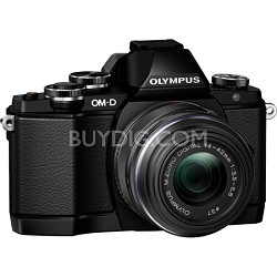 OM-D E-M10 Mirrorless Micro Four Thirds Digital Camera w/ 14-42mm 2RK Lens Black