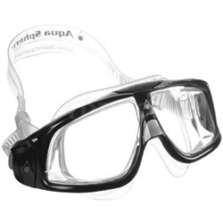 Aqua Sphere Seal Swim Mask with Clear Lens and Silver/Black Frame - 175100