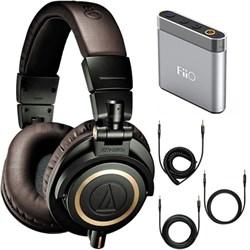 ATH-M50xDG Limited Edition Professional Headphones - Dark Green Amplifier Bundle